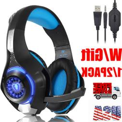 Gaming Headset Earphone Wired Headphone Stereo Sound w/Mic L