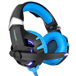 SANNUO PC Gaming Headset with Mic,USB Gaming Headphone with