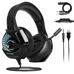 Gaming Headset for PS4 Nintendo Switch, ONIKUMA Gaming Heads