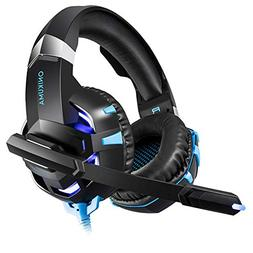 HUAN Gaming Headset for PS4 Xbox One, 3.5mm Stereo USB LED H