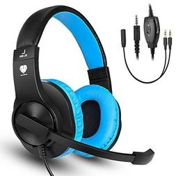 Gaming Headset for PS4 Xbox One Laptop Over-Ear Wired Stereo