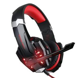 Gaming Headset For PS4, Xbox One, Laptops, Light Up Headphon