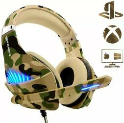 Gaming Headset for PS4 Xbox One PC,Beexcellent Deep Bass wit