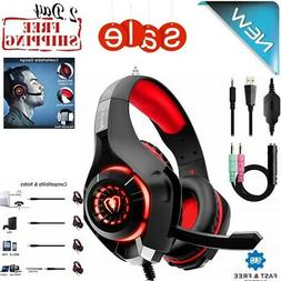 Beexcellent Gaming Headset for PS4 Xbox One PC Surround Soun