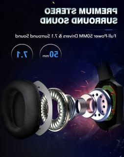 Gaming Headset for PS4, Xbox One, PC Headset w/ Surround Sou