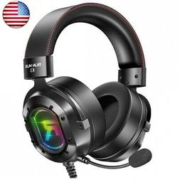 RUNMUS Gaming Headset for Xbox One, PS4, PC Headset w/Surrou