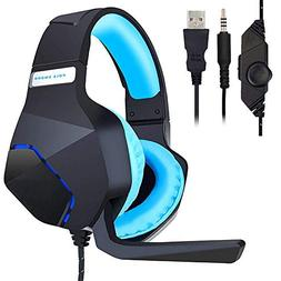 PC Gaming Headset for PS4 Xbox One, Onikuma 3.5mm Stereo USB