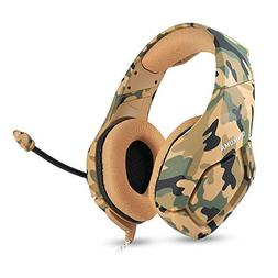 New PC Gaming Headset 3.5mm Gaming Het MIC Camouflage Headph