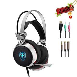 PC Gaming Headset for Xbox one PS4, 3.5mm Wired Over-Ear Hea