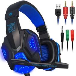 Gaming Headset Mic Led Light Laptop Computer, Cellphone, Ps4