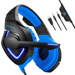 Gaming Headset Music Headphone Headsets Mic For PS3 PS4 Xbox