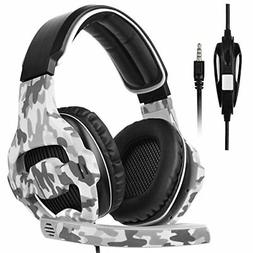 Gaming Headset Over Ear Stereo Bass Headphones with Noise Is