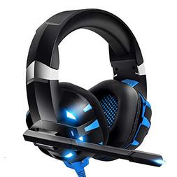 RUNMUS Gaming Headset PS4 Headset, Cutting-Edge 7.1 Surround