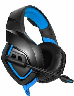 RUNMUS Gaming Headset PS4 Headset with 7.1 Stereo Surround S