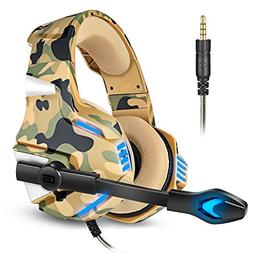Gaming Headset for PS4 Xbox One, Micolindun Over Ear Gaming