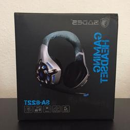 Gaming Headset SADES SA-822T Noise cancelling for PC, Xbox,