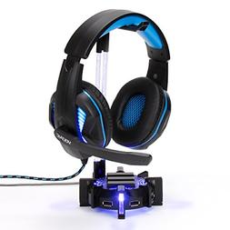 ENHANCE Gaming Headset Stand Headphone Holder with 4 Port US