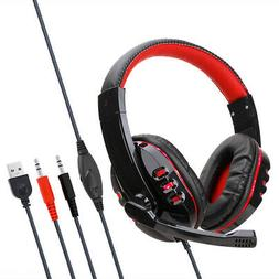 Gaming Headset Stereo Headphone 3.5mm Wired With Mic For PS4