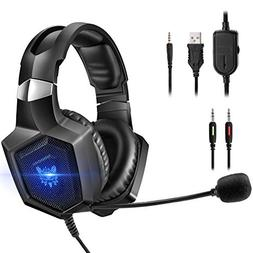 ONIKUMA Gaming Headset Stereo PS4 Headset with Flexible 360