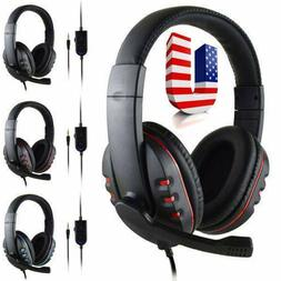 Gaming Headset Stereo Surround Headphone 3.5mm Wired With Mi