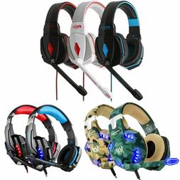 Gaming Headset Surround Stereo Headband Headphone USB 3.5mm