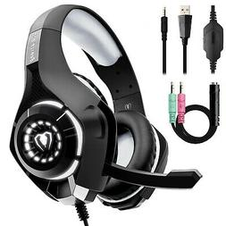 Beexcellent Gaming Headset for PS4 Xbox One PC with Noise Is