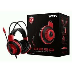 MSI Gaming Headset w/ Microphone Red And Black  -  Cable Con