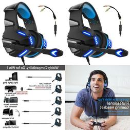 Micolindun Gaming Headset for PS4 Xbox One, Over Ear Gaming