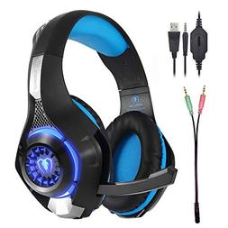 Gaming Headset with LED Light GM-1 Headband Earphone for Pla