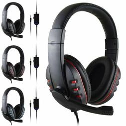 Gaming Headset Wired Over the Ear Headphones Stereo with Mic