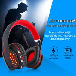 Beexcellent Gaming Headset Wireless Bluetooth LED Gaming Hea