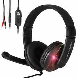 Gaming Headset With 3.5mm Jack Mic Headphones For PC Xbox On