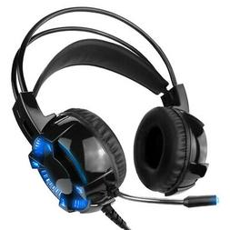Gaming Headset With Mic 7.1 Surround Sound LED Headphones fo