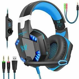 Gaming Headset with Mic for PC,PS4,Xbox One,Over-Ear Headpho
