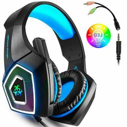 Gaming Headset with Mic for Xbox PS4 PC Plus Many More Optio