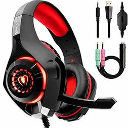 Beexcellent Gaming Headset with Noise Canceling mic, PS4 Xbo
