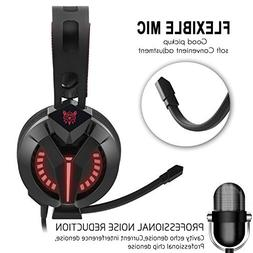 Gaming Headset, PC Gaming Headsets with Microphone and Volum