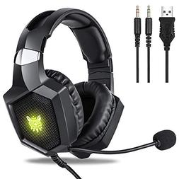 Gaming Headset Xbox One, Fuleadture RGB PS4 Gaming Headset w