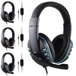 Gaming Stereo Headset Wired Headphone with Mic for Sony PS4