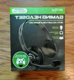 Vibe Gaming XBOX 360 Headset With Boom Mic Black Brand New!
