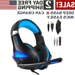 Good Quality Sound Gaming Headset Headphones  With Mic For X