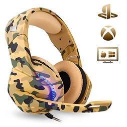 Stereo Gaming Headset for PS4 Xbox One PC Controller,PHOINIK