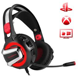 PHOINIKAS H4 Stereo Gaming Headset,3.5mm Bass Headphones,Ove