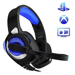 PHOINIKAS H9 Wired Stereo Gaming Headset, PS4 Xbox One, Over