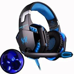 Headset game Deep Bass Stereo LED light  Microphone mic for