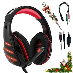 Professional Headset Gaming with Noise Cancelling Mic Used i