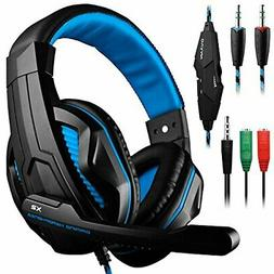 DLAND headset gaming 3.5 mm wire-based stereo noise isolatio