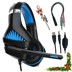Professional Headset Gaming with Noise Cancelling Mic for PC