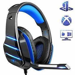 PS4 Gaming Headset with Mic,  Newest Deep Bass Stereo Sound