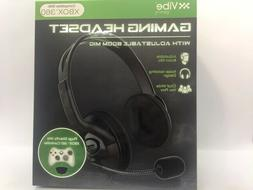 VIBE Gaming  Headset w/Adjustable Boom Mic Plugs Compatible